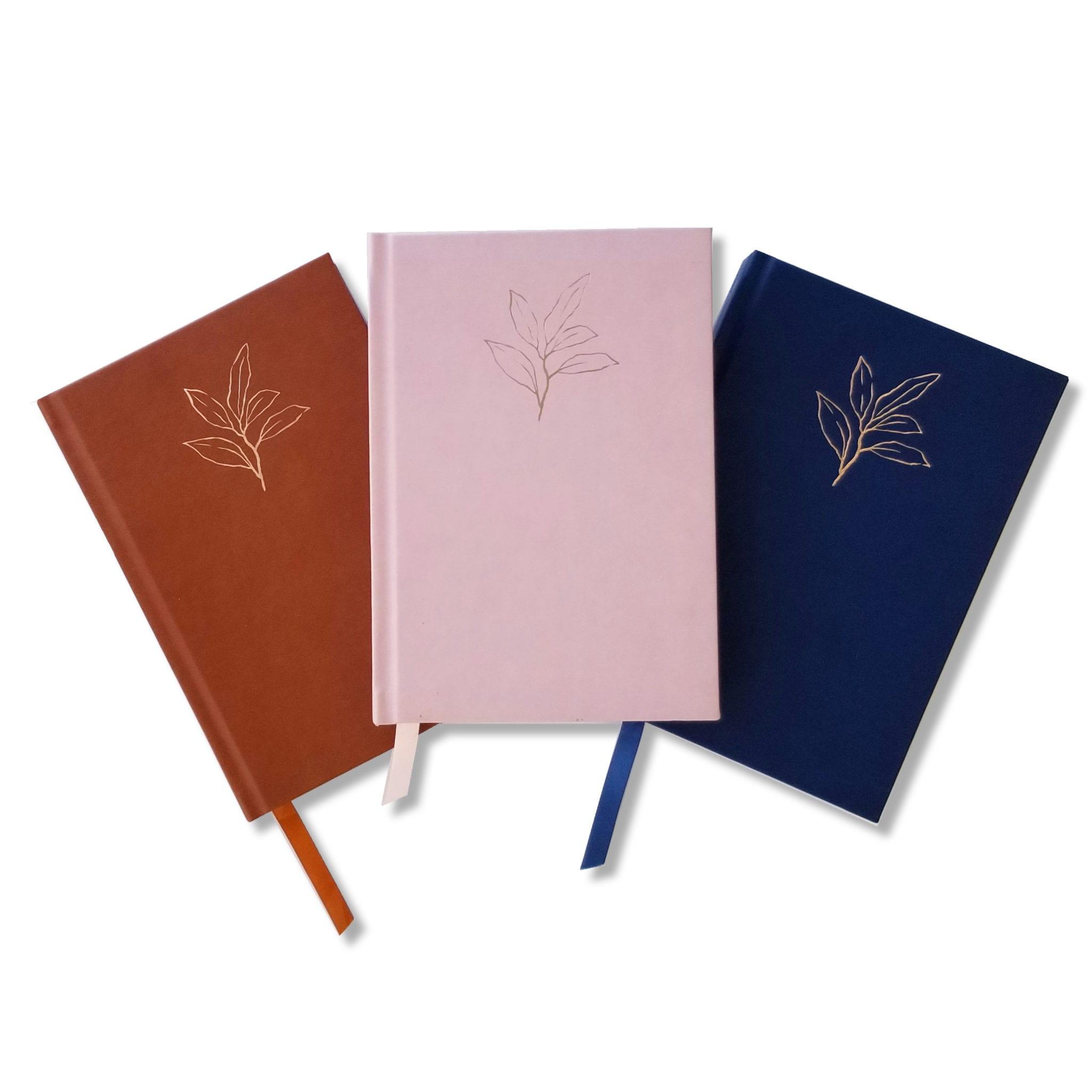 3 journals, white, square