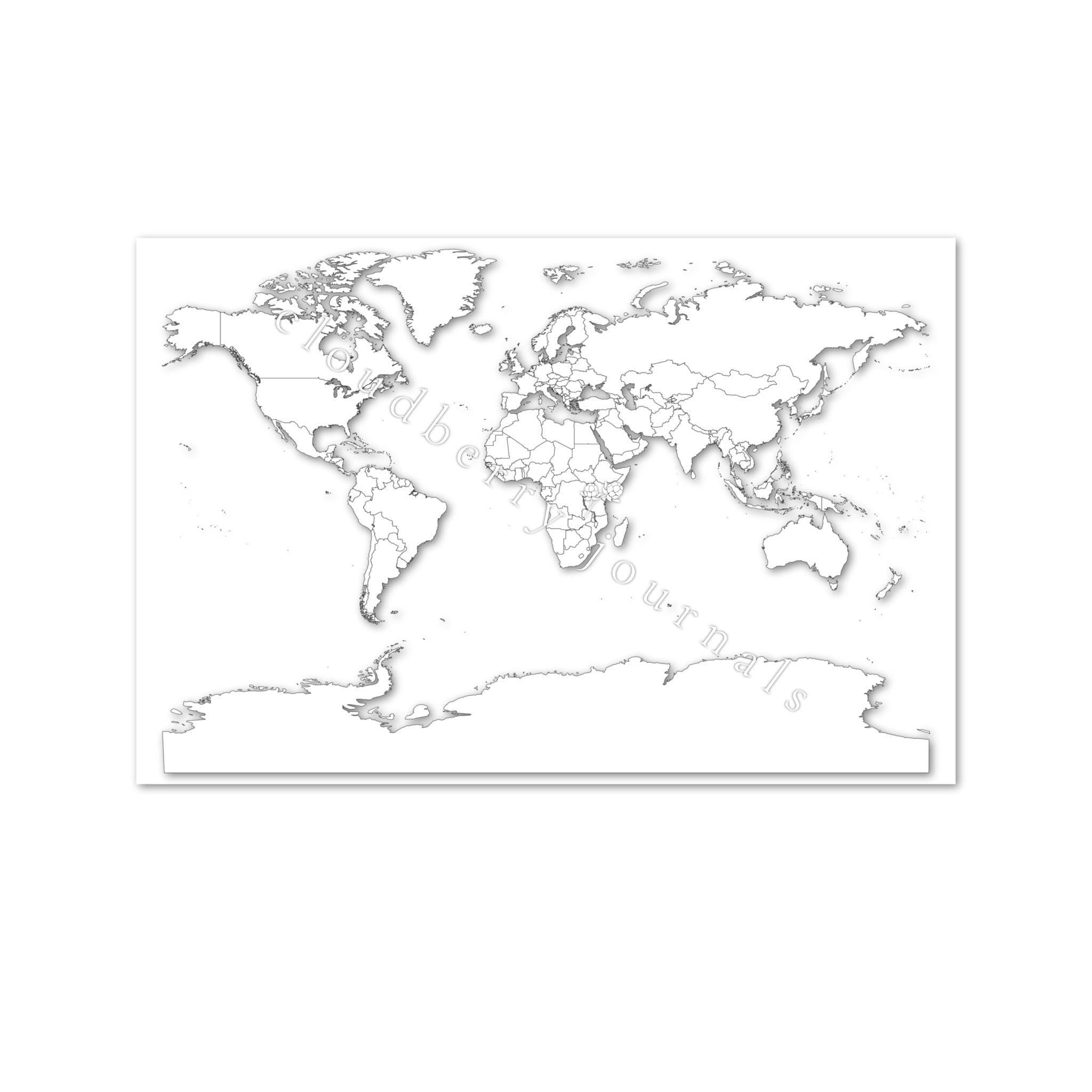 Africa on white